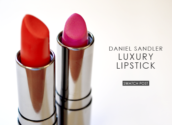 Daniel Sandler Luxury Lipstick Swatches