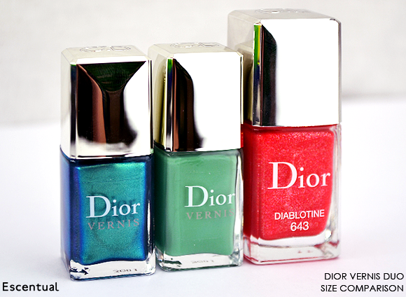 Dior Vernis Duo Size Comparison