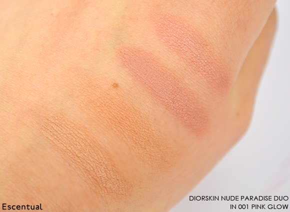 Diorskin Nude Paradise Duo in 002 Pink Glow Swatch copy