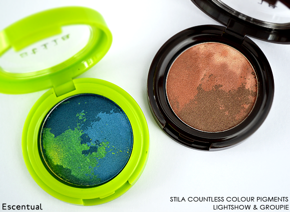 Stila Countless Colour Pigments in Lightshow and Groupie