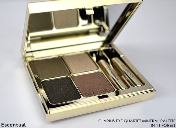 Clarins Eye Quartet Mineral Palette in 11 Forest OPEN