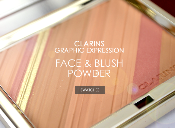 Clarins Graphic Expression Face & Blush Powder Banner