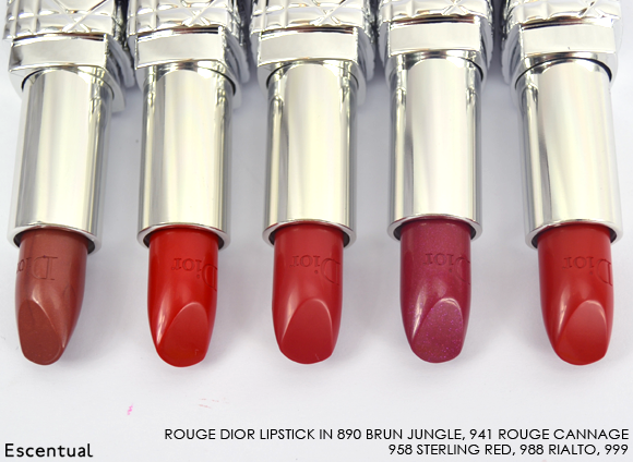 Rouge Dior Lipstick 890 941 958 988 999