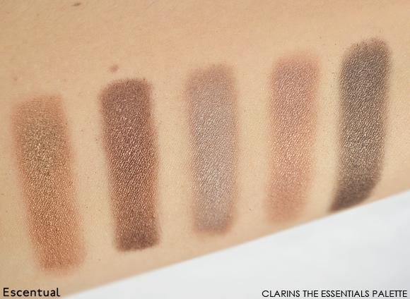Clarins The Essentials Eye Make-Up Palette Dark Shades Swatches
