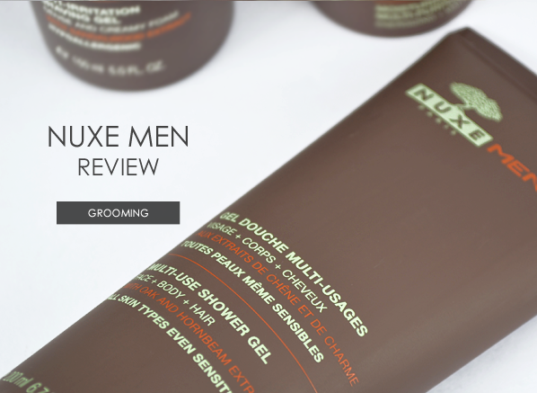 Nuxe Men Skincare Grooming Review Banner