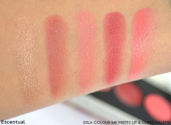 Stila Colour Me Pretty Lip & Cheek Palette Swatch