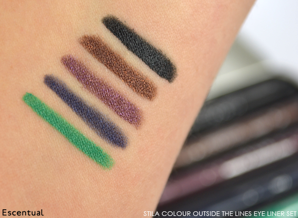 Stila Colour Outside the Lines Smudge Stick Waterproof Eye Liner Set Swatch