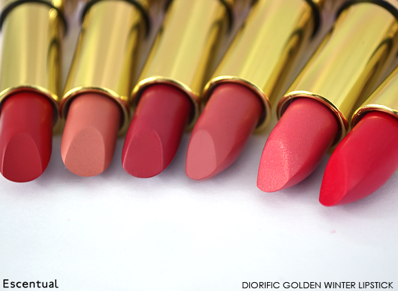 Dior Diorific Golden Winter Lipstick in Diva, Etoile, Winter, Joy, Royale and Minuit