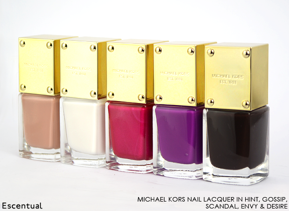 Michael Kors Nail Lacquer in Hint Gossip Scandal Envy Desire