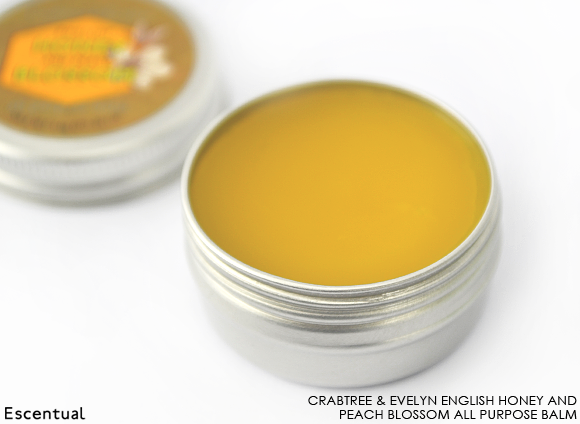 Crabtree & Evelyn English Honey and Peach Blossom All Purpose Balm Open