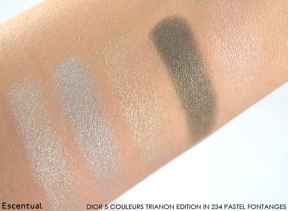 Dior 5 Couleurs Trianon Edition in 234 Pastel Fontanges Swatched