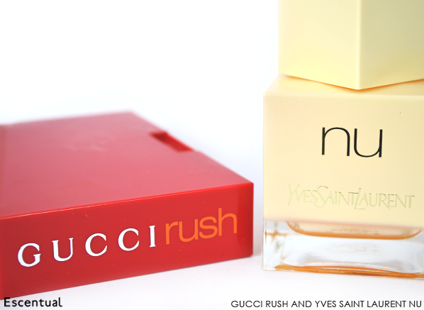 Gucci Rush and Yves Saint Laurent Nu
