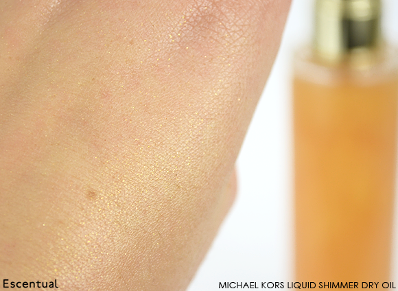 Michael Kors Liquid Shimmer Dry Oil Swatch