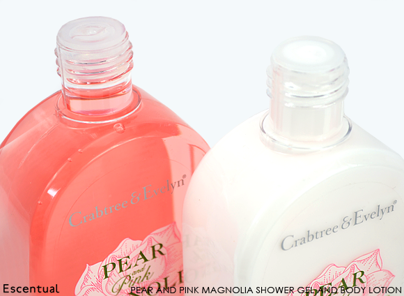 Crabtree & Evelyn Pear and Pink Magnolia Shower Gel and Body Lotion