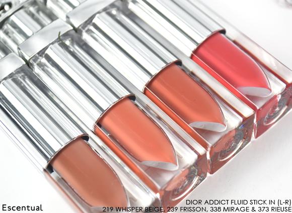 Dior Addict Fluid Stick - 219 Whisper Beige - 239 Frisson - 338 Mirage - 373 Rieuse Sticks