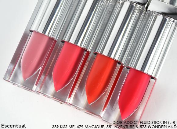 Dior Addict Fluid Stick - 389 Kiss Me - 479 Magique - 551 Aventure - 575 Wonderland Sticks