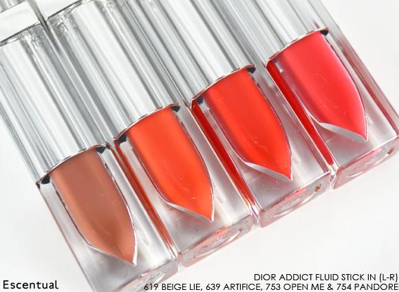 Dior Addict Fluid Stick - 619 Beige Lie - 639 Artifice - 753 Open Me - 754 Pandore Sticks