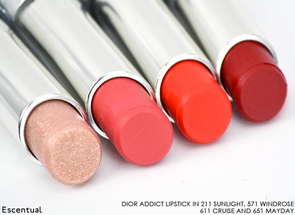 Dior Addict Transat Lipstick in 211 Sunlight 571 Windrose 611 Cruise 651 Mayday