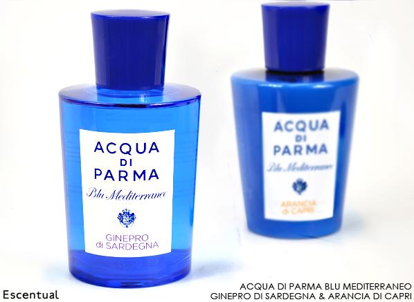 Acqua di Parma Blu Mediterraneo Ginepro di Sardegna and Arancia di Capri
