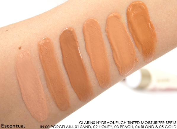 Clarins HydraQuench Tinted Moisturizer SPF15 Swatches