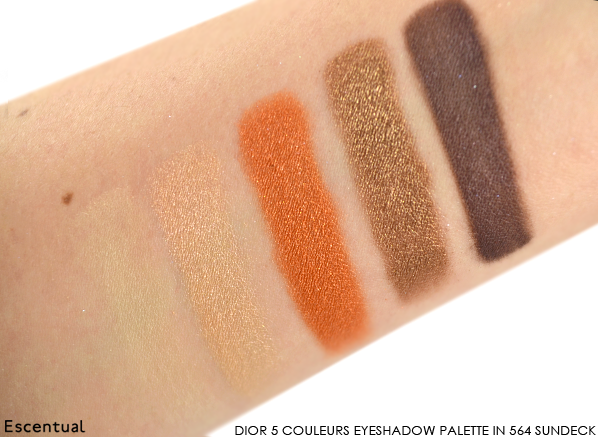 Dior 5 Couleurs Eyeshadow Palette in 564 Sundeck Swatched