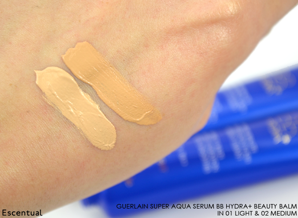 Guerlain Super Aqua Serum BB Hydra Beauty Balm Swatches