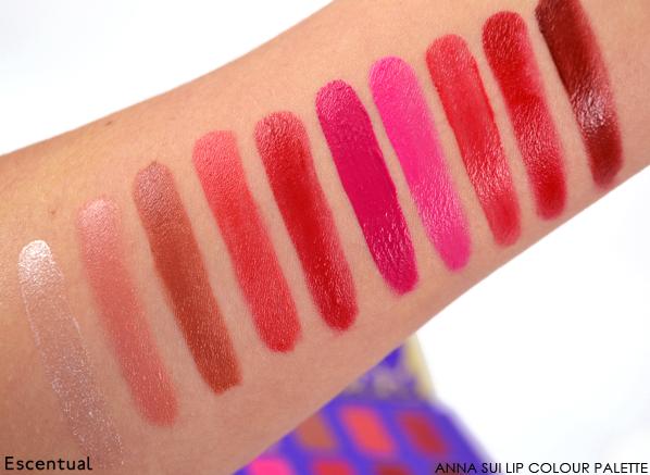 Anna Sui Lip Colour Palette Swatch