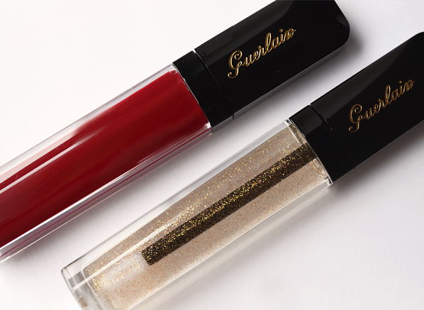 Guerlain Gloss d'Enfer in 920 Rouge Parade and 901 L'Oiseau de Feu copy 1
