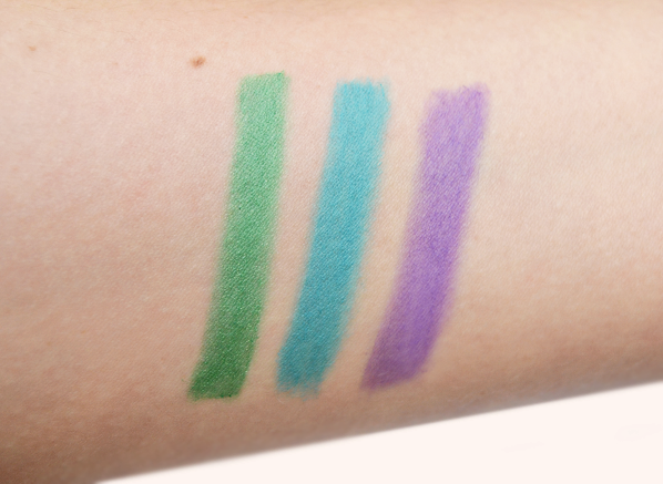 Givenchy Color Kajal 1 Vert Invention 2 Turquoise 3 Violet Creation Swatch
