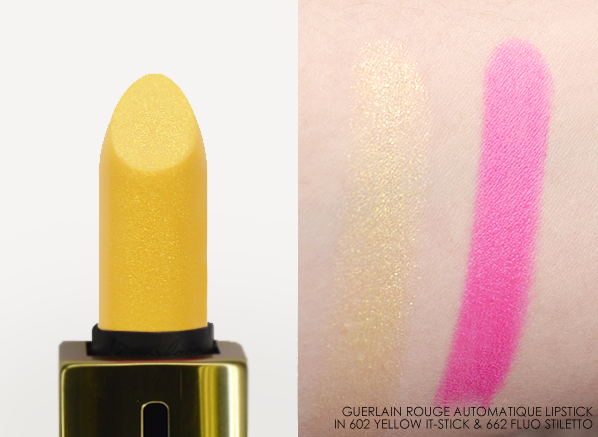 Guerlain Rouge Automatique in 603 Yellow It-Stick and 662 Fluo Stiletto