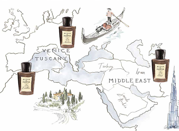 Acqua di Parma Ingredients Collection Illustration
