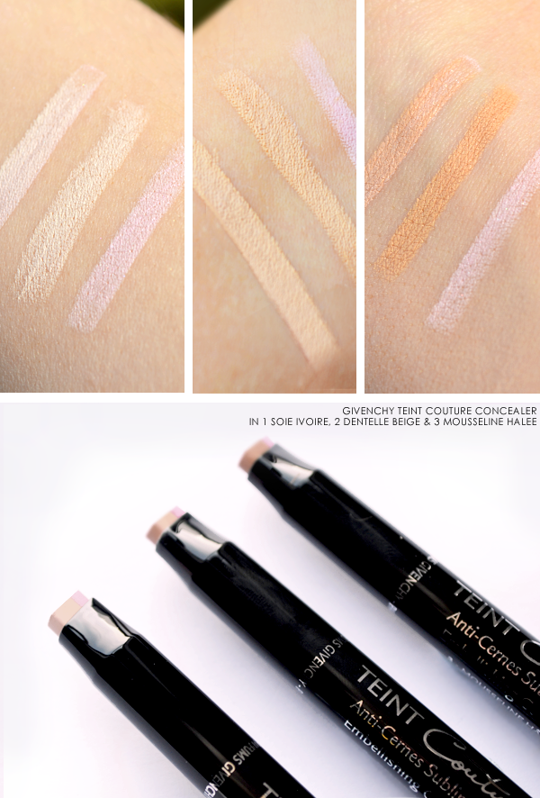 Givenchy Teint Couture Concealer Swatches