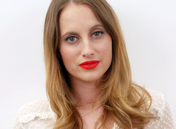 Rosie Fortescue Red Lips Look