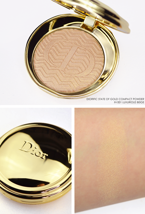 Dior Diorific State of Gold Compact Powder in 001 Luxurious Beige