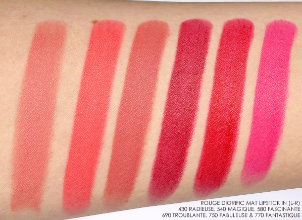Dior Rouge Diorific Mat Lipstick Swatches - State of Gold 2015
