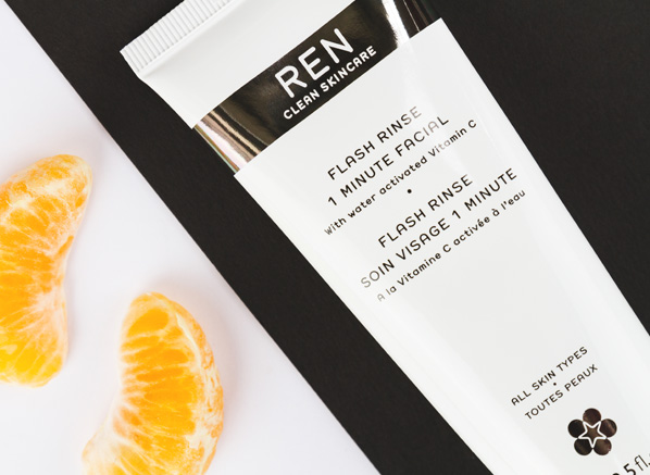 Did you know? It only take the REN Flash Rinse 1 Minute Facial 60 seconds to instantly transofrm the texture, and tone of your skin!