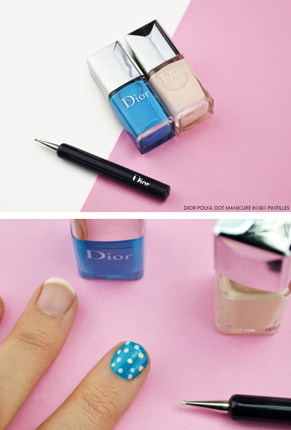 Dior Polka Dot Manicure in 001 Pastilles - Dior Milky Dots Summer Look