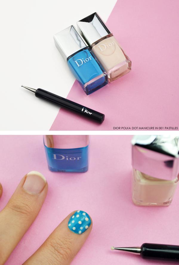Dior Polka Dot Manicure in 001 Pastilles - Dior Milky Dots Summer Look
