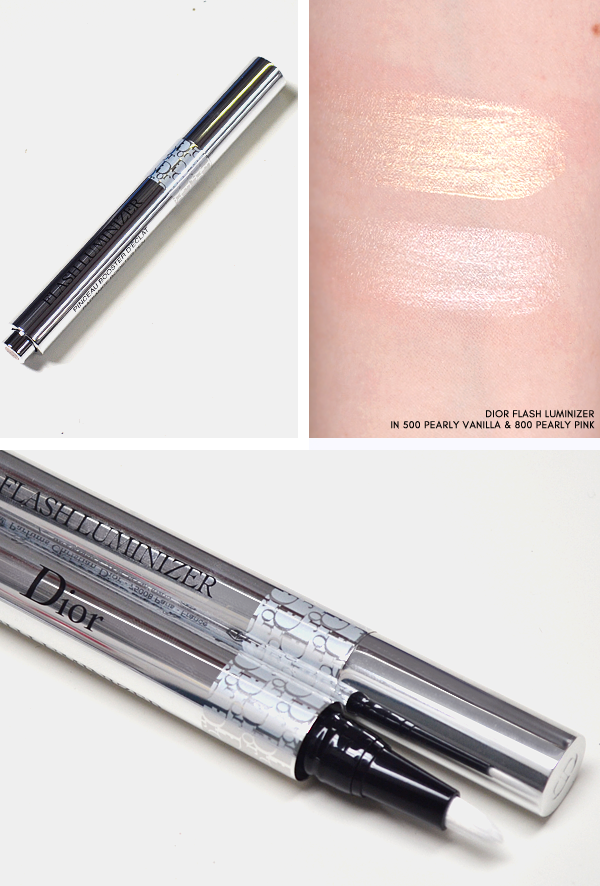 Dior Skyline - Dior Flash Luminizer in 500 Pearly Vanilla and 800 Pearly Pink