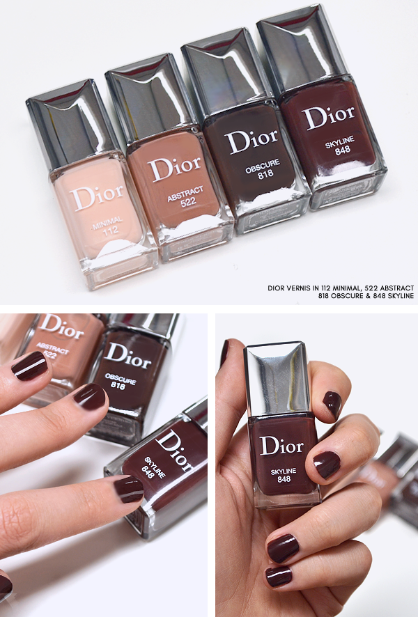 Dior Skyline - Dior Vernis in 112 Minimal - 522 Abstract - 818 Obscure - 848 Skyline