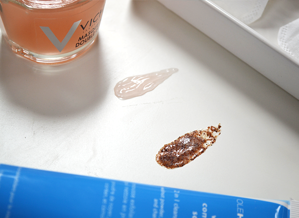 Vichy Double Glow and Ole Henriksen Walnut Complexion Scrub