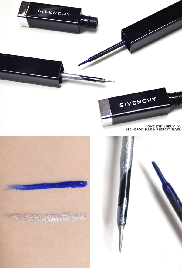 Givenchy Liner VInyl in 2 Heroic Blue and 3 Heroic Silver - Superstellar Makeup Look