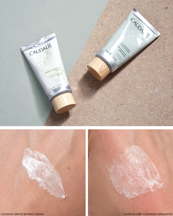 Caudalie Gentle Buffing Cream and Deep Cleansing Exfoliator