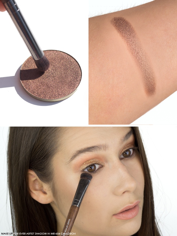 MAKE UP FOR EVER Artist Shadow in ME-654 Cauldron Swatch