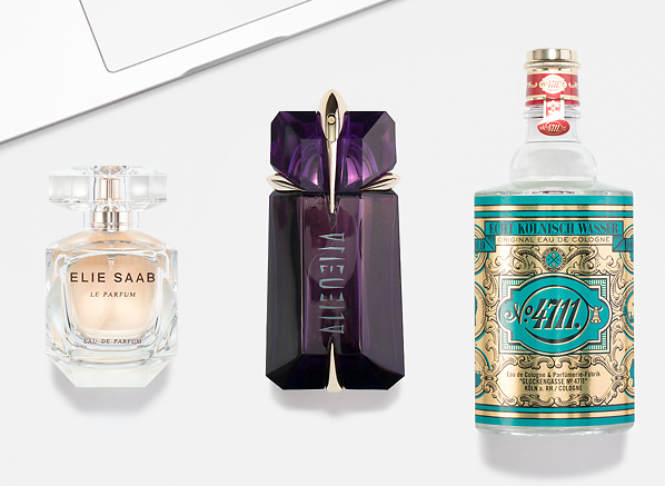 3 Solar Fragrances We're Wearing This Summer: 4711 Original Eau de Cologne Splash, Mugler Alien Eau de Toilette Spray, Elie Saab Le Parfum Eau de Parfum Spray