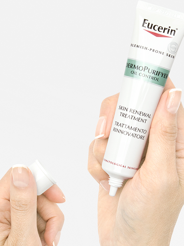 Acne Tips from Skincare Experts: Use Eucerin DermoPURIFYER Skin Renewal Treatment