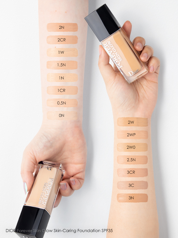 DIOR Forever Matte Foundation Swatches Review