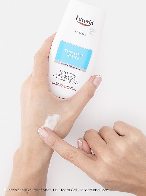 Summer Skin Concerns: Eucerin Sensitive Relief After Sun Cream Gel For Face & Body