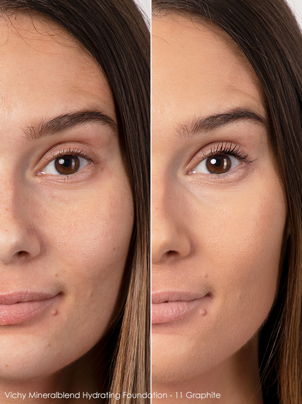 Vichy Mineralblend Hydrating Foundation Before and After