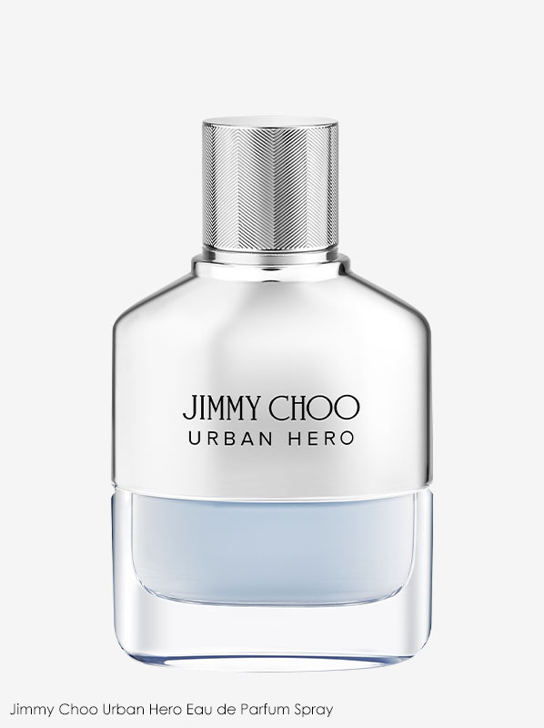Image of Jimmy Choo Urban Hero fragrance on a plain white background